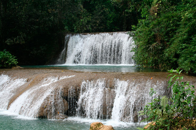 Ys Falls are one of the natural wonders of Jamaica, they are located in the south coast of the island.